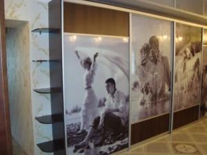 Шкафы купе с фотопечатью на стекле в Курске 50