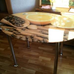 Мебель из стекла с фотопечатью в Курске 04