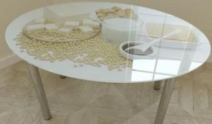 Мебель из стекла с фотопечатью в Курске 06